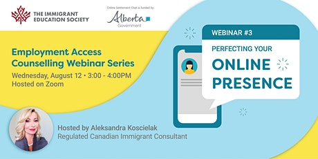 Webinar: Perfecting your Online Presence - Employment Access Counselling tickets