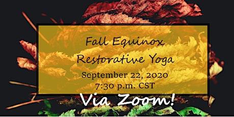 Fall Equinox Restorative Yoga tickets
