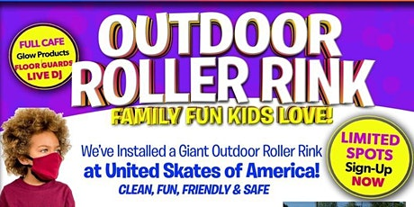 Outdoor Roller Skating at United Skates Sunday 8/16 6:45pm-8:15pm tickets