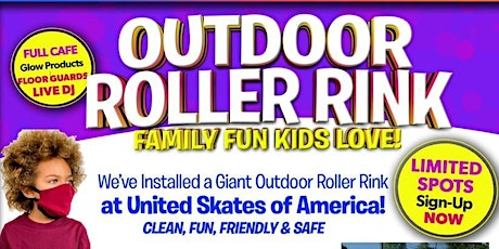 Outdoor Roller Skating at United Skates Sunday 8/16 8:30pm-10:00pm tickets