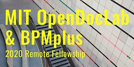 MIT OpenDocLab & BPMplus Remote Fellowship (Sept 2020-Jan 2021) tickets