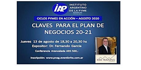 Claves para el  Plan de Negocio Pyme  2020/21 entradas