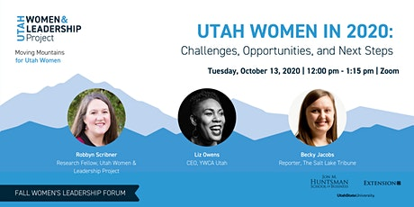 Utah Women in 2020:  Challenges, Opportunities, and Next Steps tickets