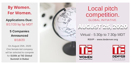 TiE Women of Denver - (VIRTUAL) Launch + Pitch Event tickets