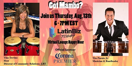 Latin Biz Today Virtual Lounge Happy Hour with Tito Puente Jr. tickets
