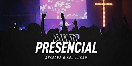 Culto Domingo 09/08/2020 - 19h30 (Ceia) ingressos