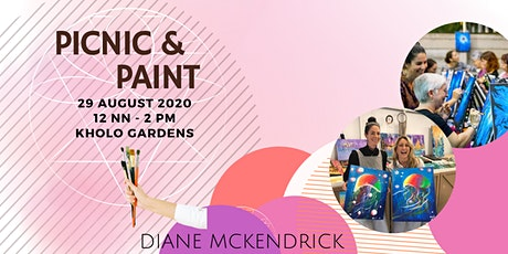 "PICNIC & PAINT - Boho vibes in a semi style picnic as we ""picnic and paint"" tickets"