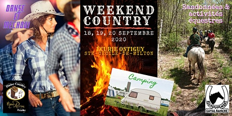 WEEKEND COUNTRY, 18, 19 et 20 septembre. billets