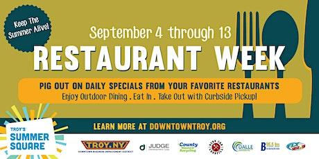 2020 Troy Restaurant Week tickets