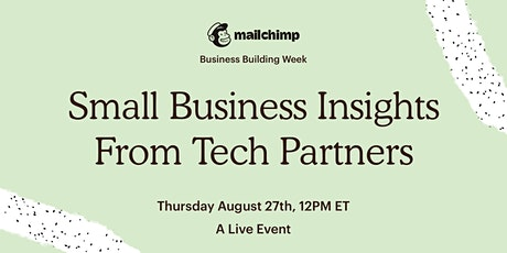 Small Business Insights from Tech Partners tickets