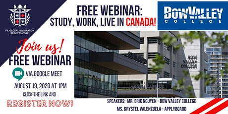 FREE ORIENTATION WEBINAR: STUDY, WORK AND LIVE IN CANADA! tickets