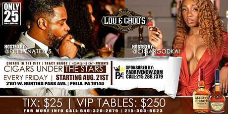CIGARS UNDER THE STARS @ LOU AND CHOOS tickets