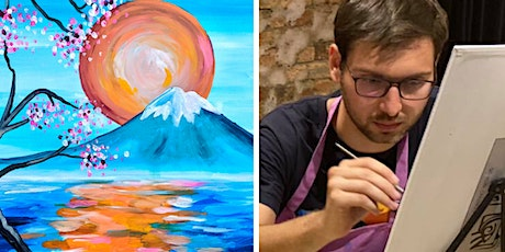 Paint the Fuji Mountain - Online Sip & Paint Class (LIVE) Tickets