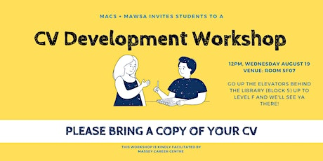 MACS CV Development Workshop tickets