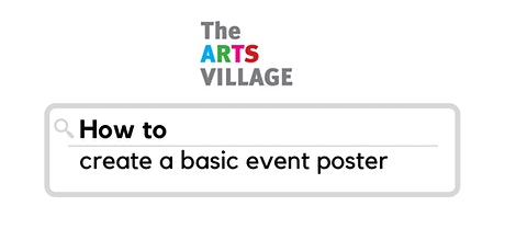 How to create a basic event poster tickets