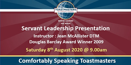 Servant Leadership Keynote Jean McAllister DTM tickets