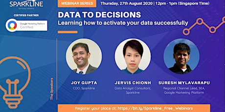 DATA TO DECISIONS: Learning how to activate your data successfully tickets