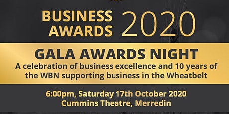 Wheatbelt Business Excellence Awards Gala Dinner and Presentation Event tickets