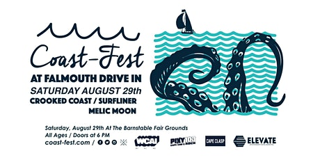 Coast-Fest 2020 featuring Crooked Coast, Surfliner and Melic Moon. tickets