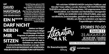 """LiteraturBar mit Roger Rekless und """"Ein N***** darf nicht neben mir sitzen"""" Tickets"""