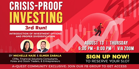 Crisis-Proof Investing - 3rd run! tickets