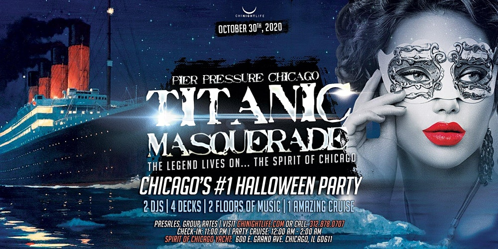 Today Show October 30th Halloween Decorations 2020 Titanic Masquerade   Pier Pressure Chicago Halloween Yacht Party