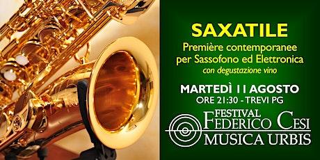 Saxatile: Premiere contemporanee per sax ed elettronica & degustazione vino biglietti