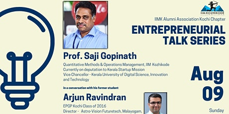 Entrepreneurial Talk Series with Prof. Saji Gopinath tickets