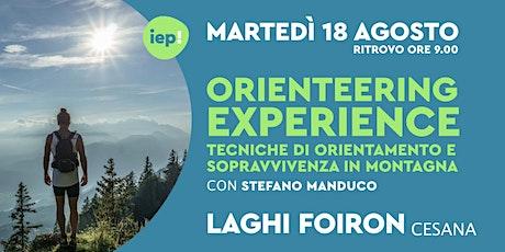 Orienteering Experience - Orientamento e sopravvivenza in montagna biglietti