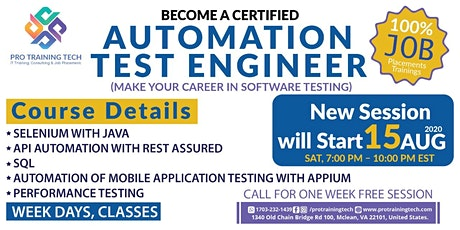 Software  Test Automation Career tickets