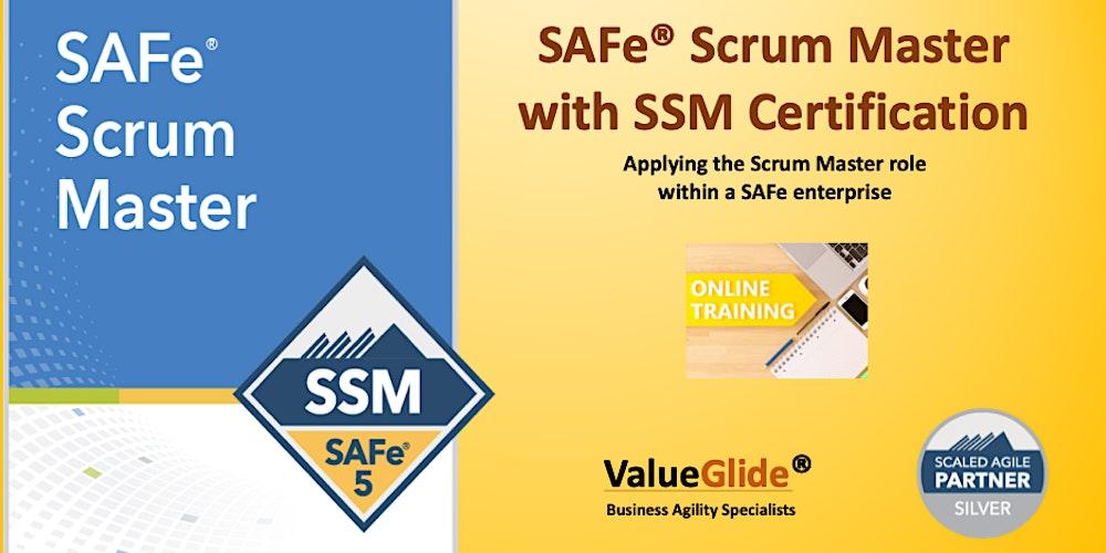 Online Safe Scrum Master Ssm 5 0 Tickets Sat 7 Nov 2020 At 09 00 Eventbrite