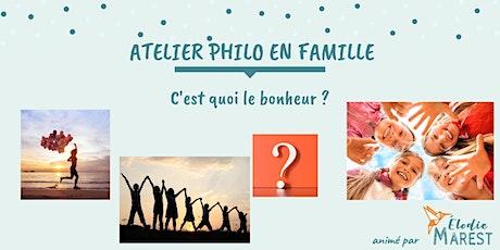 Atelier philo en famille : C'est quoi le bonheur ? billets