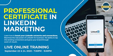 Professional Certificate in LinkedIn Marketing tickets