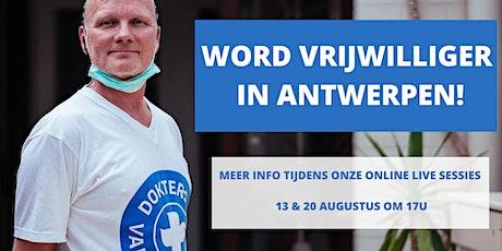 Online info sessie - Ik word vrijwilliger in Antwerpen tickets