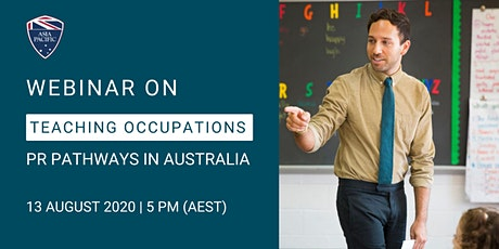 Webinar on PR Pathways with Teaching Occupations & Regional Study Options tickets