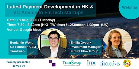 Latest Payment Development  in HK and VC Advice to Fintech Startups tickets