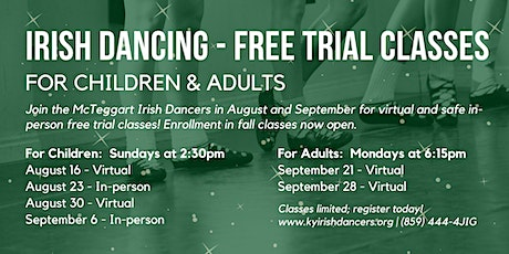 Irish Dancing - Free Trial Classes for Children & Adults tickets