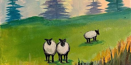 Paint & Sip Online 'Sheep' YouTube LIVE Art Event tickets