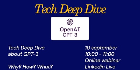 Tech Deep Dive - GPT-3 tickets