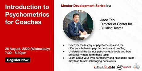 【Virtual】Introduction to Psychometrics for Coaches 26 Aug tickets
