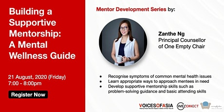 【Virtual】Building a Supportive Mentorship : A Mental Wellness Guide 21 Aug tickets