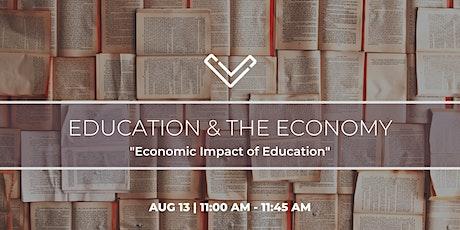 """[Venture Café] Education & The Economy: """"Economic Impact of Education"""" biglietti"""