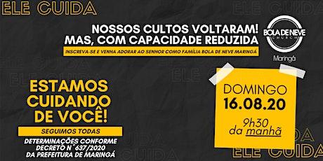 CULTO DOMINGO (16/08) 9h30 ingressos