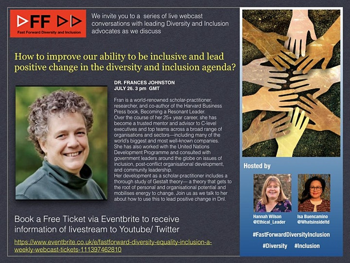 #FastForwardDiversityInclusion  - a weekly webcast image