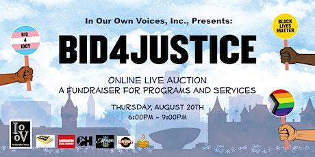 Bid 4 Justice! Online Live Auction tickets