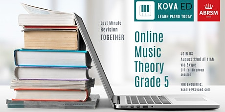 ABRSM Online Music Theory Grade 5 Exam - Revision Session tickets