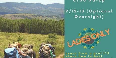 Ladies Backpacking Basics Class + Overnight Trek tickets