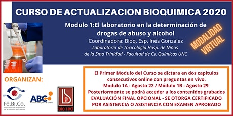 Curso de Actualizacion Bioquimica 2020 - Modulo 1 biglietti