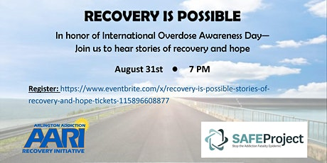 Recovery is Possible: Stories of recovery and hope tickets