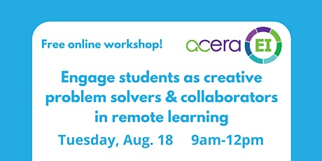 Engaging students as problem solvers & collaborators in remote learning tickets